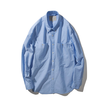 POTTERYButton Down Shirt(Blue)