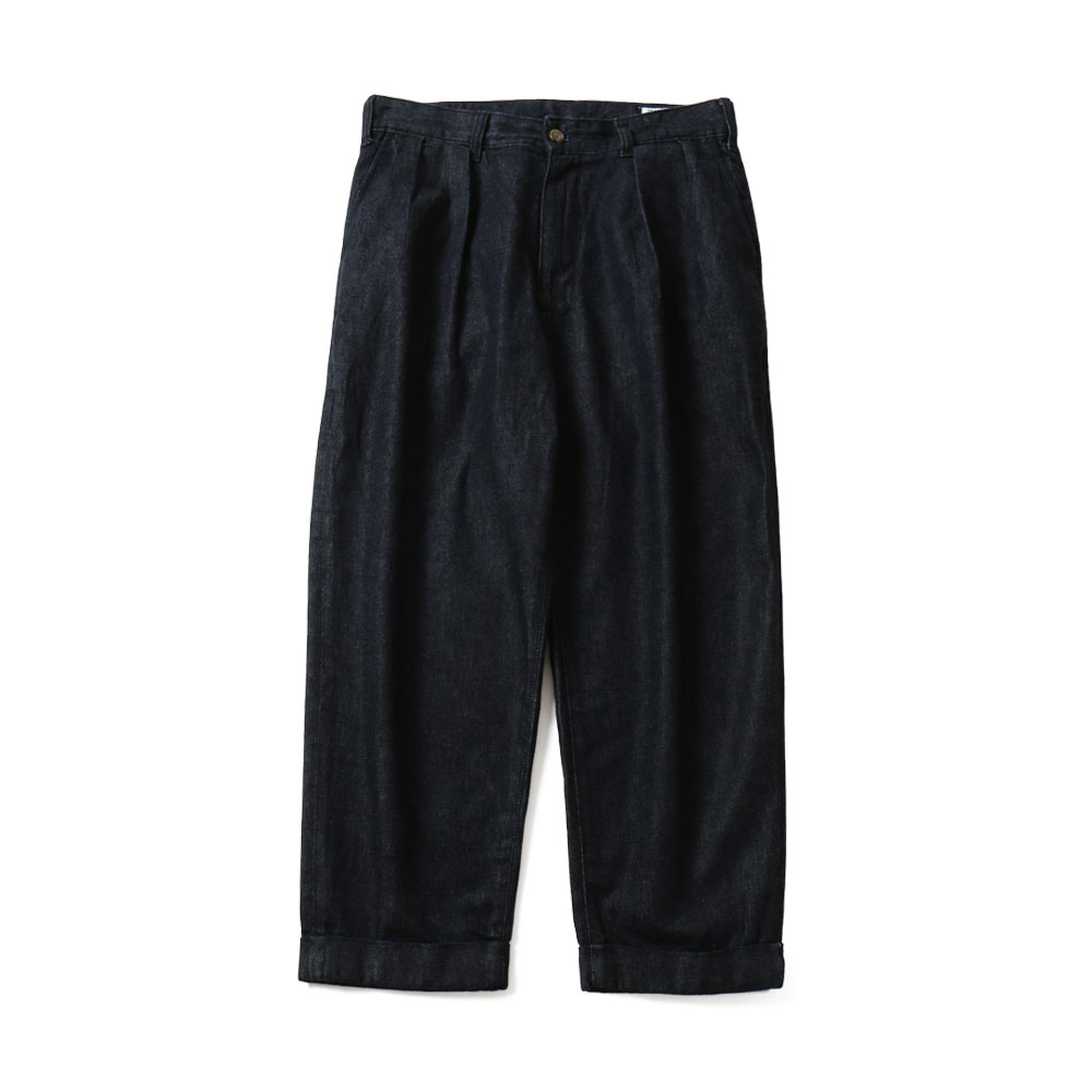 HORLISUNCorrigin Wide Denim Pants(Dark Navy)