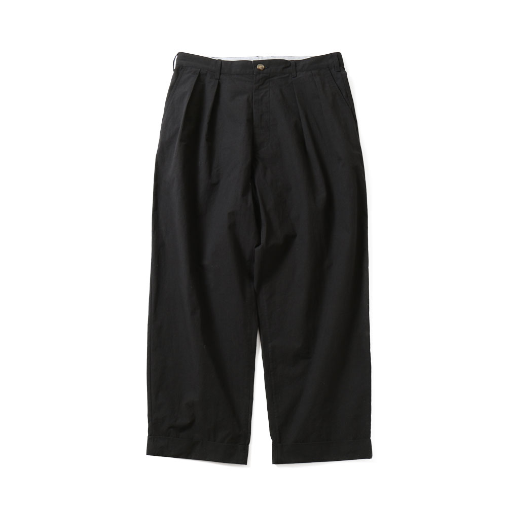 HORLISUNLaurier Typewriter Wide Pants(Black Navy)