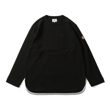 HORLISUNEmery Long Sleeve Pocket Seasonal T-shirts(Black)10% Off