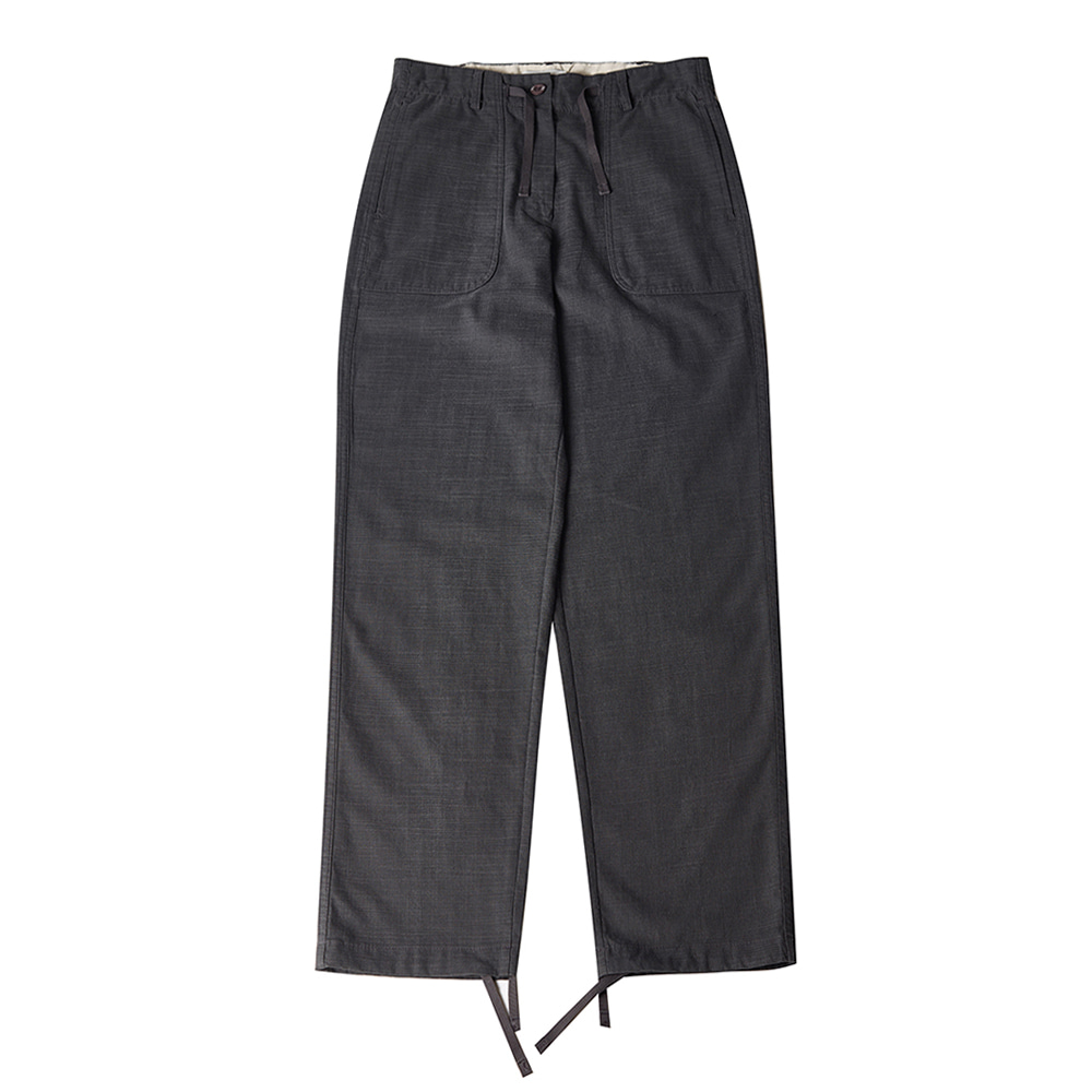TOELinen String Slacks Pants(Charcoa)