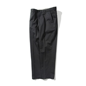 POTTERYWashed Tapered Supima Cotton Twill Pants(Dark Grey)