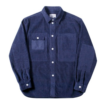 NAMER CLOTHINGCorduroy Utility Shirts(Navy)