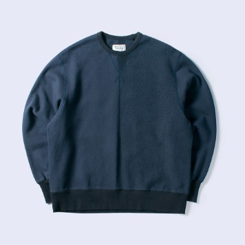 NAMER CLOTHING3rd Half Crewneck(Navy)