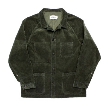 KICK THE BEATUnisex Cord Work Jacket(Deep Green)30% Of