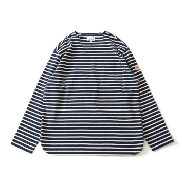 HORLISUNUnion Long Sleeve Pocket T(Navy Cream)10% Off