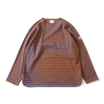 HORLISUNUnion Long Sleeve Pocket T(Brown Blue)10% Off