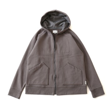 HORLISUNWilow Zipup Pocket Hood Jacket(Charcoal)10% Off