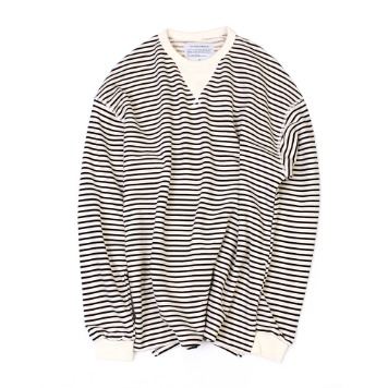 YOU NEED GARMENTSFlat Seam Stripe Shirts(White)30% Off