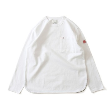 HORLISUNEmery Long Sleeve Pocket T(White)
