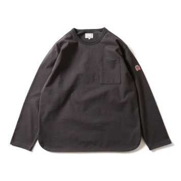 HORLISUNEmery Long Sleeve Pocket T(Charcoal)