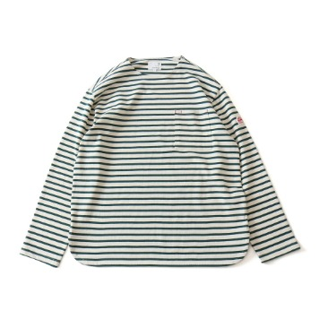 HORLISUNUnion Long Sleeve Pocket T(Cream Green)