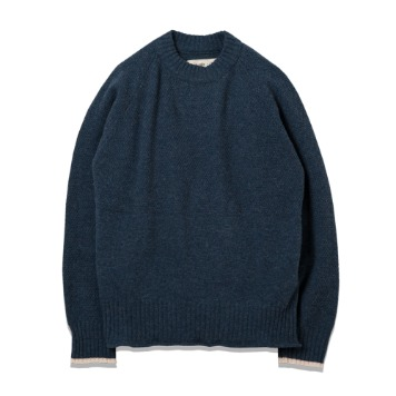 ROUGH SIDEFisherman Knit(Navy)