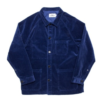 KICK THE BEATUnisex Cord Work Jacket(Indigo Blue)
