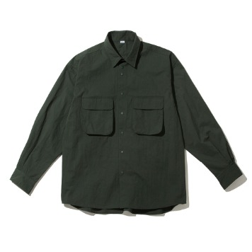 SOFTURRustle Wide Shirt(Moss Greenl)