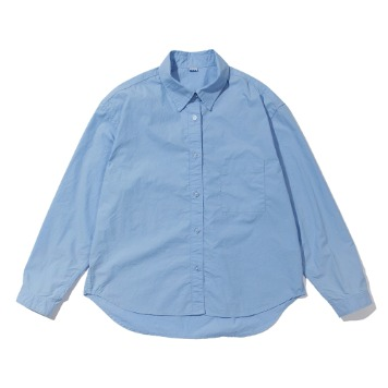 SOFTURWomen's Crop Wide Shirt(Blue)