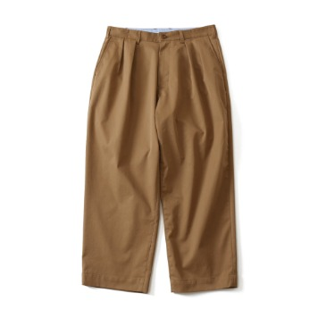 HORLISUNCorinth Silky Two Tuck Wide Loose Pants(Light Brown)