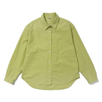 SOFTURWomen's Crop Wide Shirt(Lime)