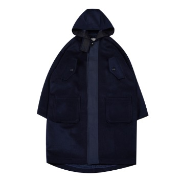 TOEHooded Wool Coat(Navy)