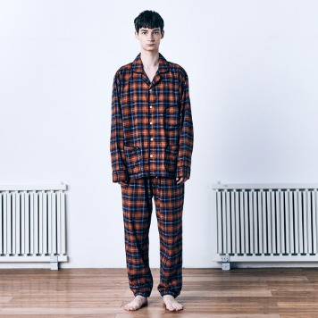 MONOPISPA(M) Duffel PJ SET(Flannel Pumpkin Plaid)