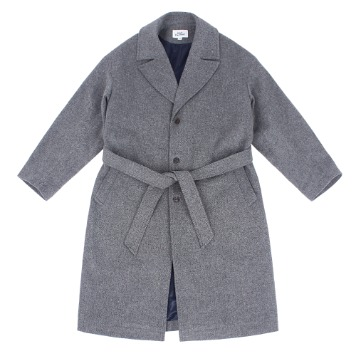 KICK THE BEATUnisex Belted Wool Coat(Grey Herringbone)30% Of