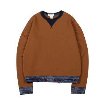 TOEColor Block Sweat Shirt(Brown)