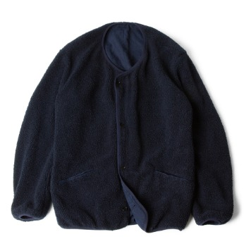 POLYTERUReversible Fleece Cardigan(Navy Blue)