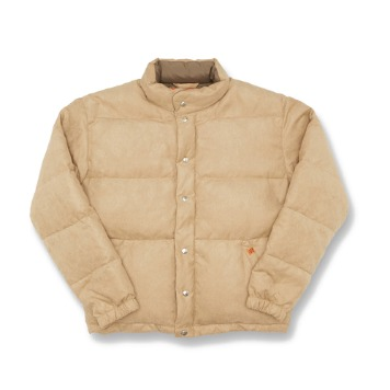 UNIVERSAL OVERALLSuede Short Down Jacket(Beige)30% Off