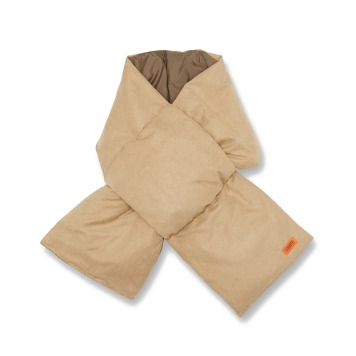 UNIVERSAL OVERALLSuede Down Padding Scarf(Beige)30% Off