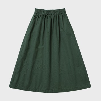CHIQUITACotton Pleats Skirt(Green)