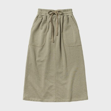 CHIQUITASweat Fatigue Skirt(Beige)