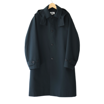 Kick The BeatUnisex Hooded Mac Coat(Navy)