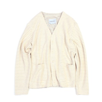 YOU NEED GARMENTSFrench Terry Cardigan(Ivory))