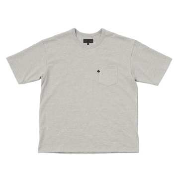 TEXT & SLNCSpade Embroidered Pocket T(Melange Grey)