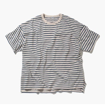 SOFTURBorder T Shirt(Blue/Beige)