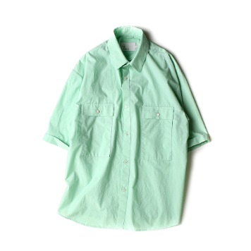 OUR SELVES4 Pocket Wide Half Shirts(Cool Mint)