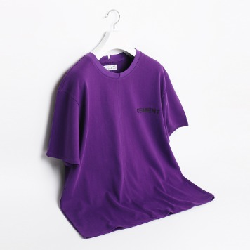 ATE STUDIOCement Printed T Shirts(Purple)