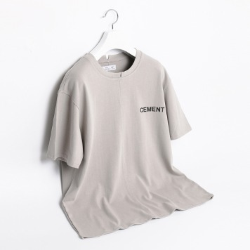 ATE STUDIOCement Printed T Shirts(Grey)