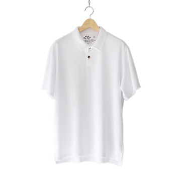 KICK THE BEATTerry Polo Shirt(White)