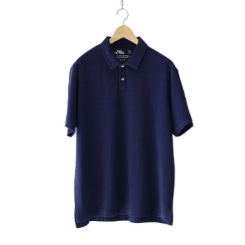 KICK THE BEATTerry Polo Shirt(Navy)