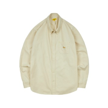 THE RESQ & COEmbroidery Oxford Shirt(Old White)