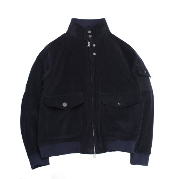 YOU NEED GARMENTSWashed Harrington Cord Jacket(D.Navy)30% OFF