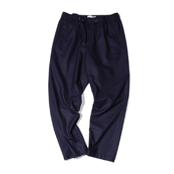 OUR SELVESFine Wool Wide Slumber Pants(Dark Navy)30%OFF