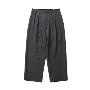 HORLISUNCorinth Houndtooth Wide Loose Pants(Charcoal Gray)