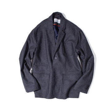 OUR SELVESFine Wool Slumber Jacket(Charcoal)