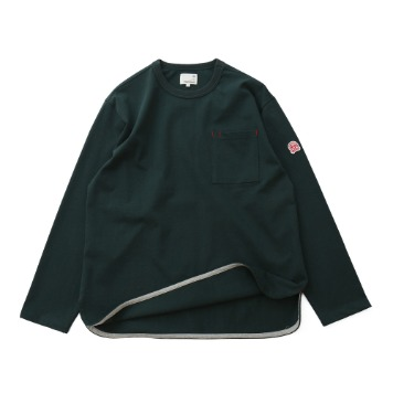 HORLISUN x TEXT SLNCEmery Long Sleeve Pocket Seasonal T(Deep Green)