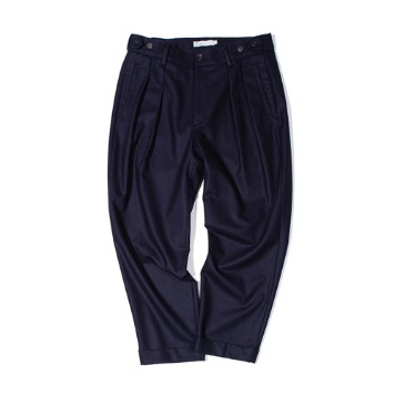 OUR SELVESFine Wool Tapered Slumber Pants(Dark Navy)30%OFF
