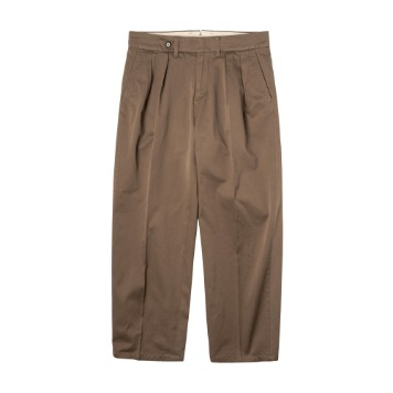 ROUGH SIDE509. 2 Tuck Chino Pants(Brown)