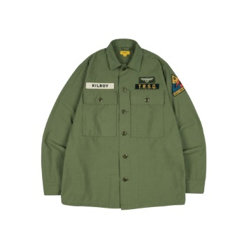 THE RESQ & COKilroy Patch Shirts(Olive Green)