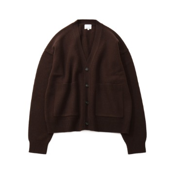 HORLISUNElliot Heavy Knit Cardigan(Dark Brown)10% Off